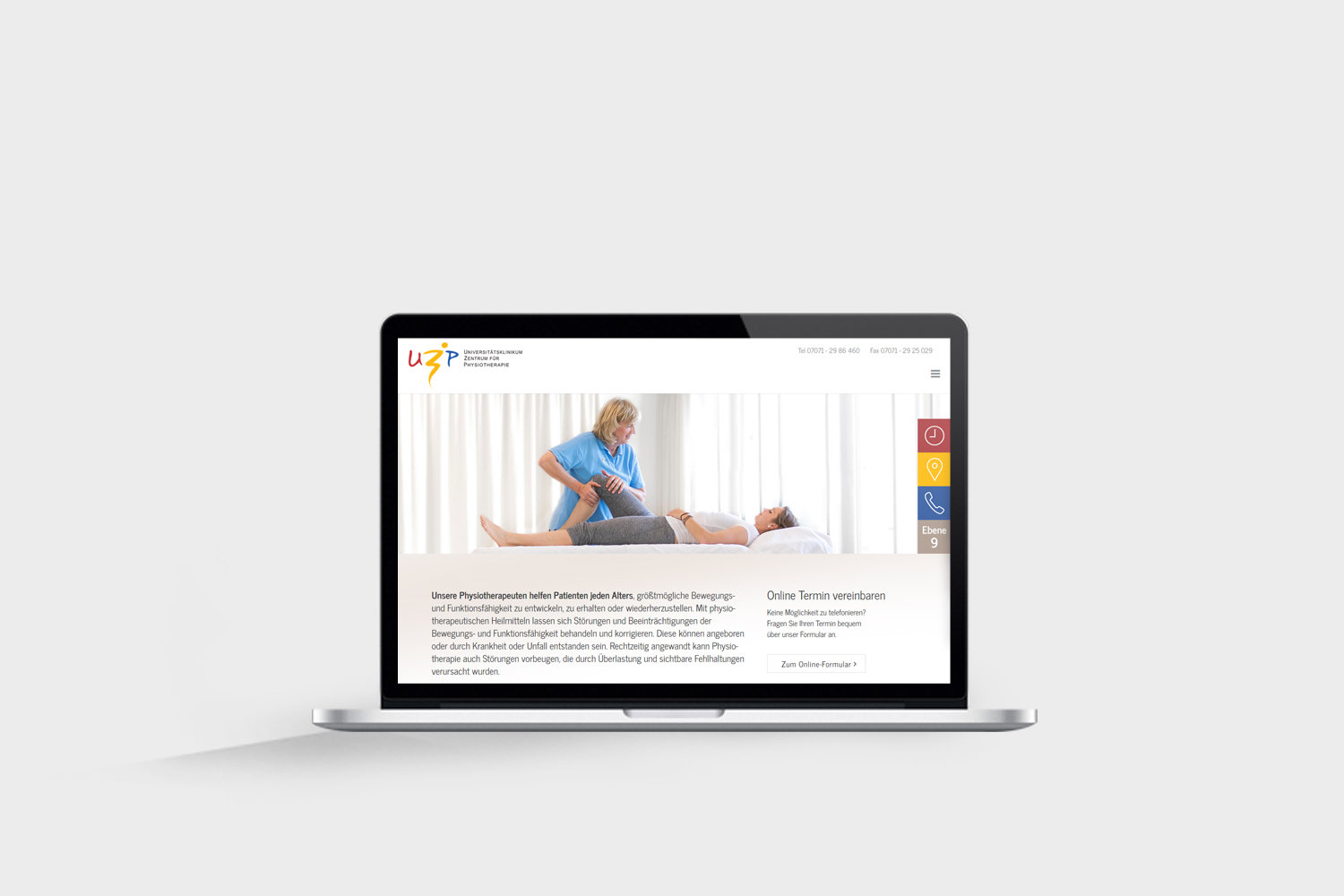Physiotherapiepraxis Websiteerstellung - Website