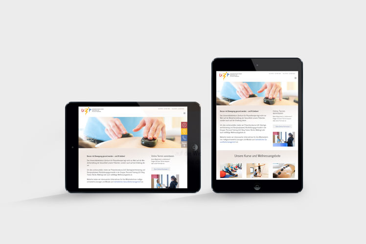 Responsive Webdesign Physiotherapie Praxis